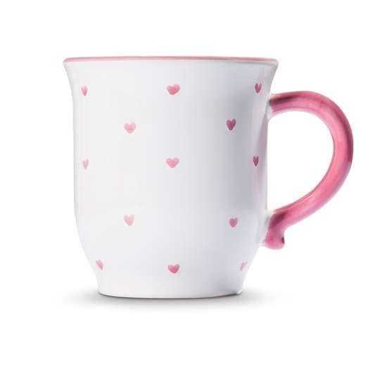 GmundnerKeramik Valentinstag Variation rosa – Schokotasse Herzerl rosa 0012TSHS09