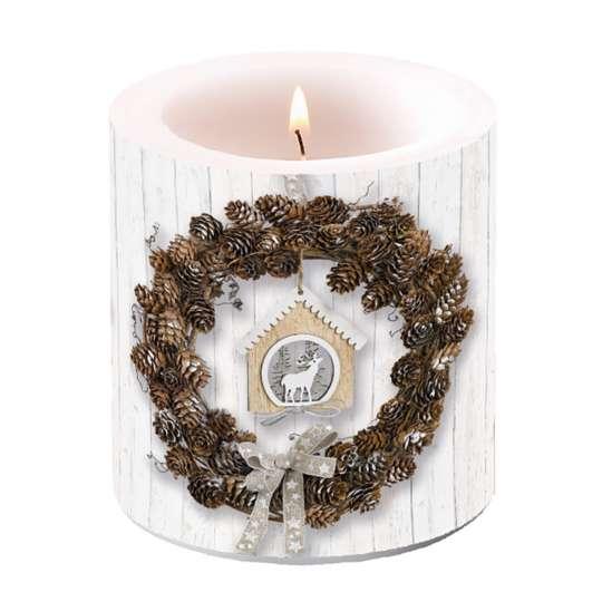 Ambiente - Pine Cone Wreath - Kerze klein