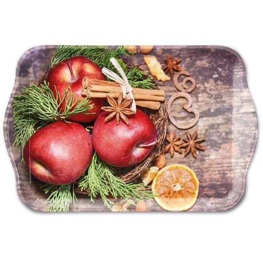 Ambiente - Winter Apples - Tablett, 13 x 21 cm