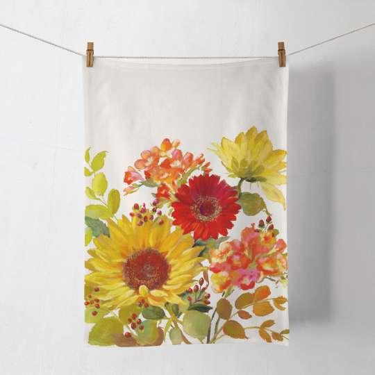 Ambiente Sunny Flowers Küchenhandtuch 50x70