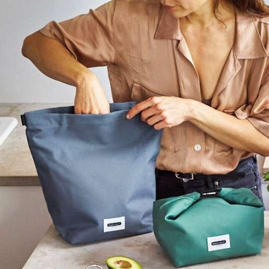 Black-blum-lunchbags-gruen-grau