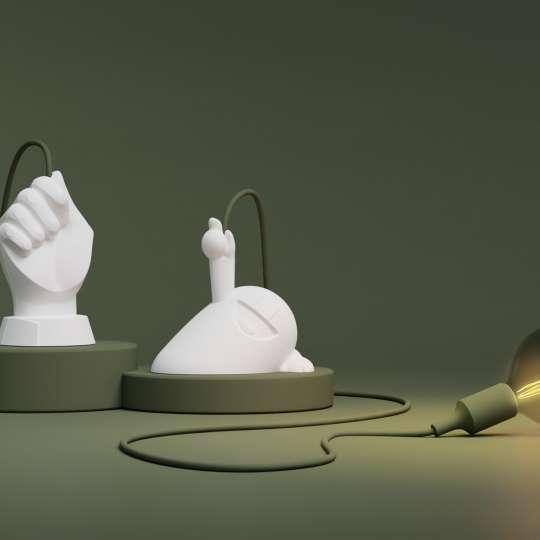 58Products - Happy Hermann und Hand des Lichts - Mood grün