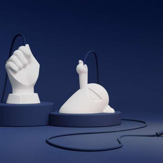 58Products - Happy Hermann und Hand des Lichts - Mood blau