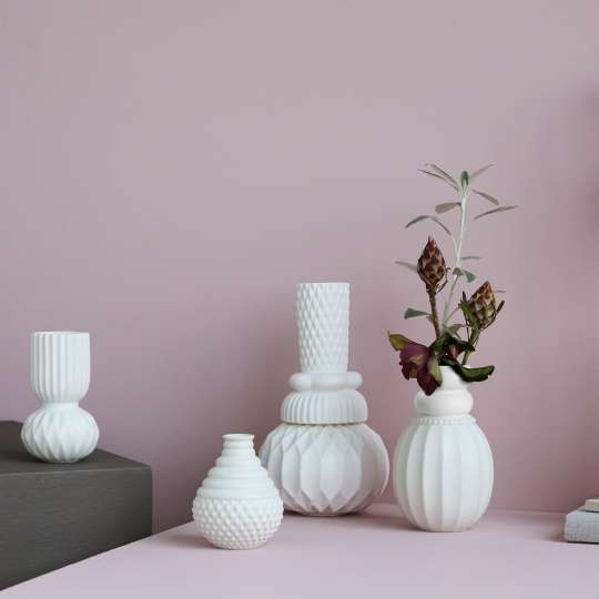 DOTTIR – Design Vasen Serie in matt weiss