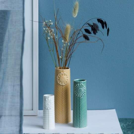 DOTTIR – Vasen-Set PIPANELLA – Freisteller - Curry, Grün und Weiß