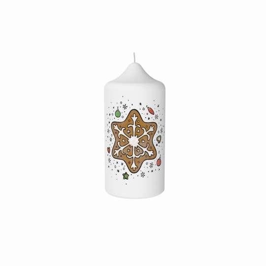 Stumpenkerze Lebkuchenstern von Engels Kerzen