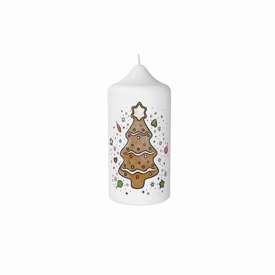 Stumpenkerze Lebkuchentanne von Engels Kerzen