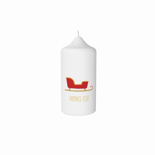 Stumpenkerze Schlitten von Engels Kerzen