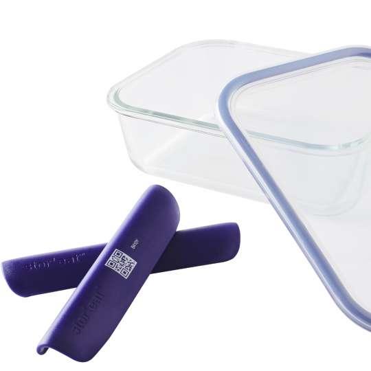Mastrad Aufbewahrungsbox glas/blau F93003