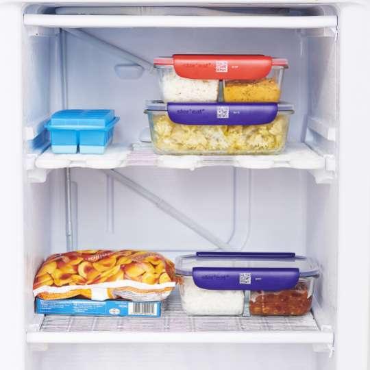 Mastrad Aufbewahrungsboxen geschlossen im Kühlschrank blau & rot  F93xxx