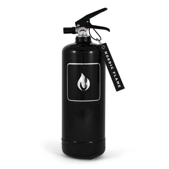 Nordic Flame - Feuerloescher schwarz/silber 2kg –N110