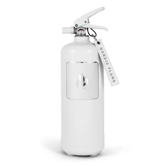 Nordic Flame - Feuerloescher weiss/silber 2kg –N100