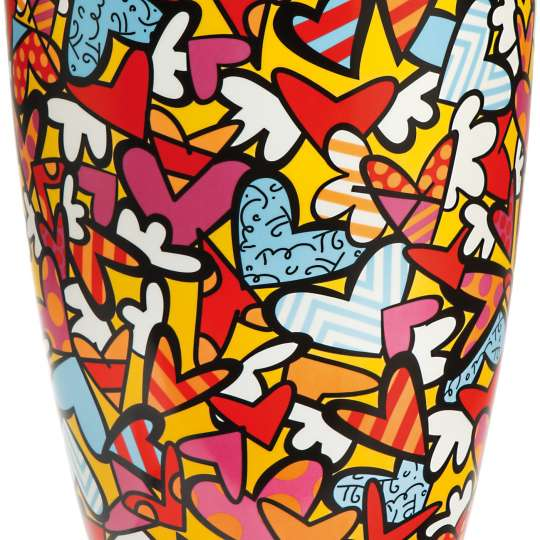 Goebel-Porzellan-Pop-Art-Britto-Vase-Al-We-Need-is-Love