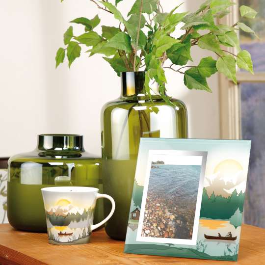 Goebel Scandic Home Mountain Peace Mug und Bilderrahmen