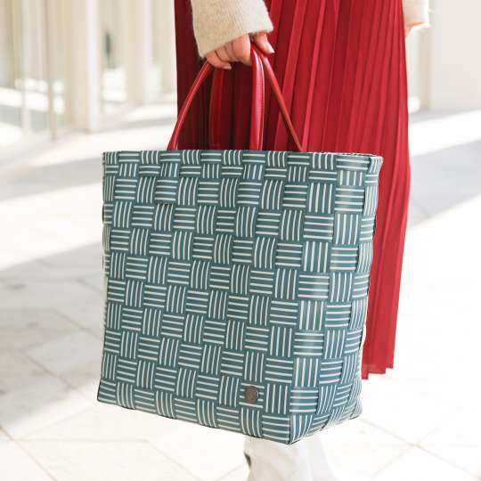 Handed By - Shopper JOY - Blue green