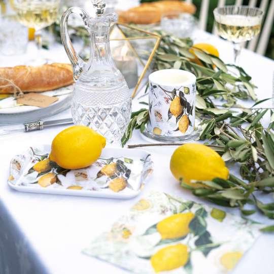 Ambiente Lemon Tablett  und Kerze