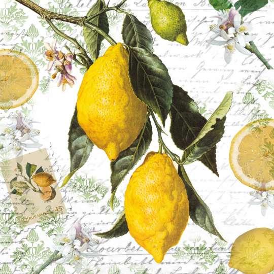 mbiente Lemon Servietten 13314990 und Cocktail 12514990