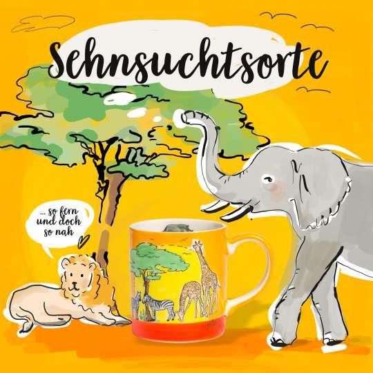 Mila Design Grafik Kaffee-Becher, Motiv Afrika