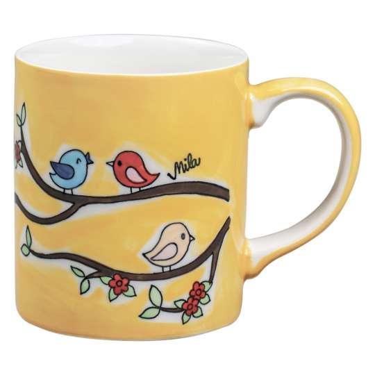Mila Design Lovely Birds Becher 80230