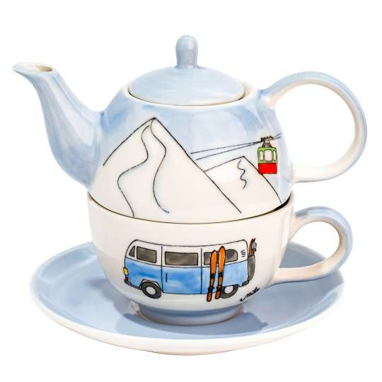 Mila-Design Tea for one. Motiv Skifahren -  99224