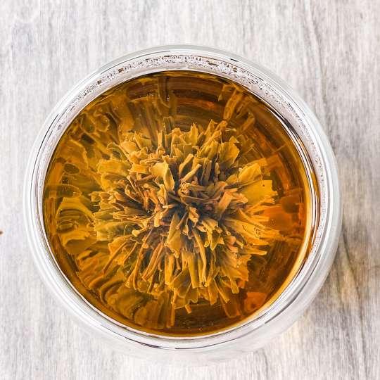 Nibelungentee - China Tea-Rose von oben