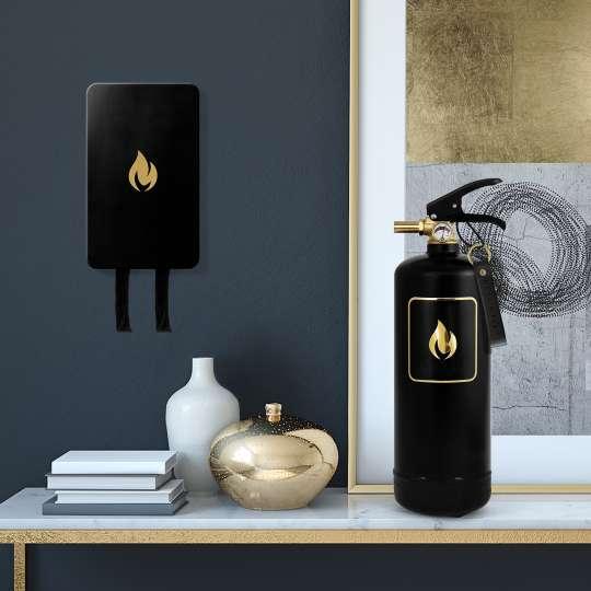 Nordic Flame - Feuerlöscher Gold Edition mit Löschdecke