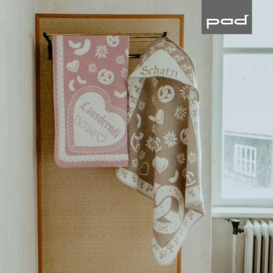 Lauser Decke in pink und taupe von pad