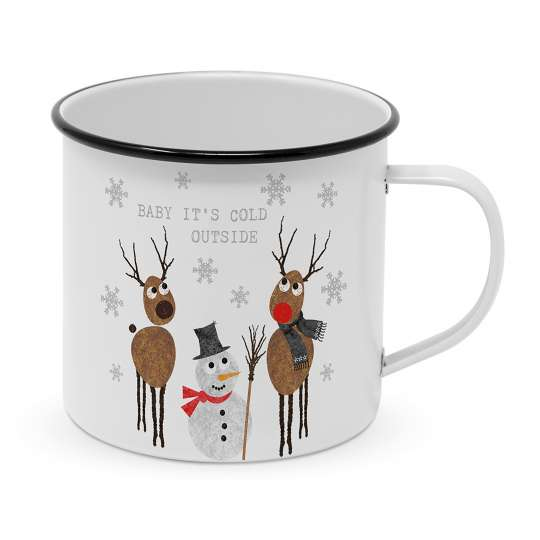 PPD - 604134 Cold Outside Happy Metal Mug - Metallbecher
