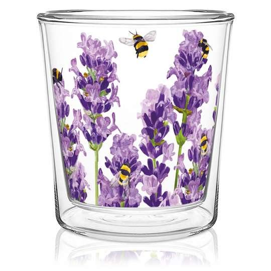 PPD 604306·Bees&Lavender Doublewall Trendglass