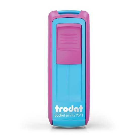 trodat - Kontaktdatenstempel PocketPrinty 9511 - Türkis-pink - frei