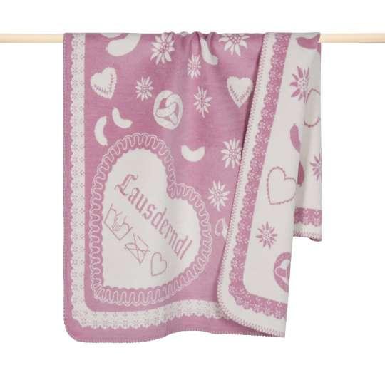 Lauser Decke 75x150 in pink von pad