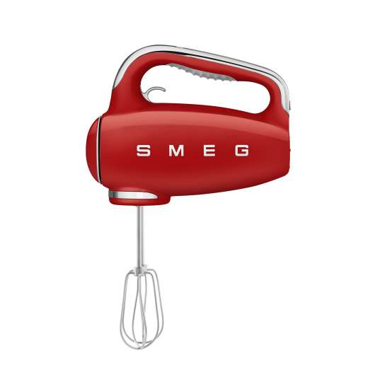 SMEG - Handmixer HMF01RDEU rot - seitlich