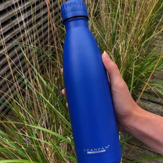 Scanpan - TO GO Isolierflasche dunkelblau - Natur