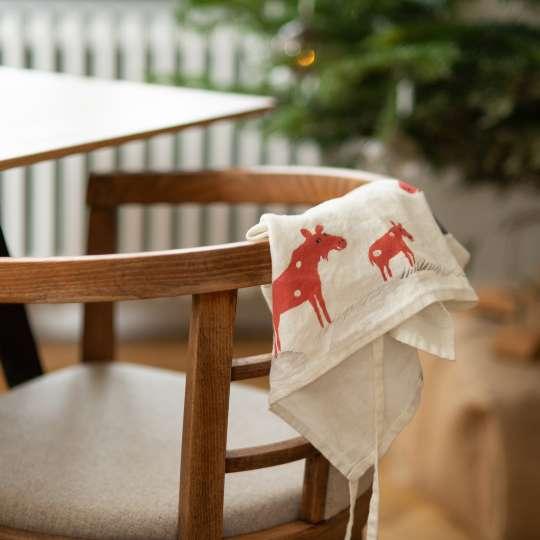 Schulz Home - Leinenschürze Schneeelche - Stuhl