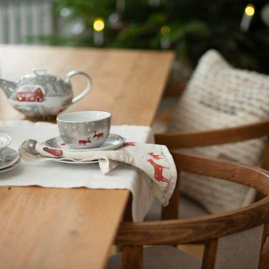 Schulz Home - Geschirr & Serviette Schneeelche - Weihnachten