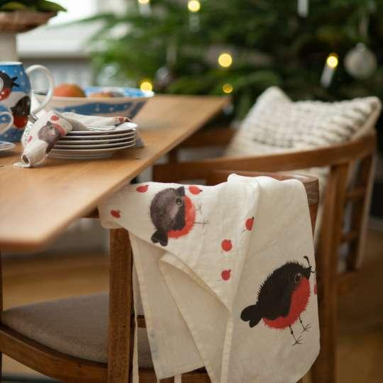 Schulz Home - Leinenschürze Nordvogel & Geschirr - Stuhl