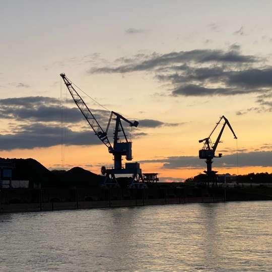 Sonnenuntergang auf dem Niederrhein