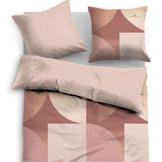 "Tom Tailor Bettwäsche SATIN BED LINEN ""FADED CIRCLES"" 69987-857"