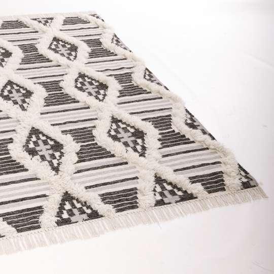 Tom Tailor  Vintage Teppich Cozy Kelim 615 black-white