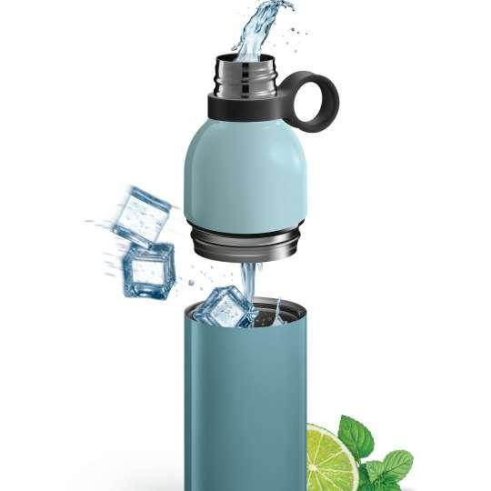 Tescoma - CONSTANT PASTEL - zerlegbare Thermosflasche blau - Eiswürfel