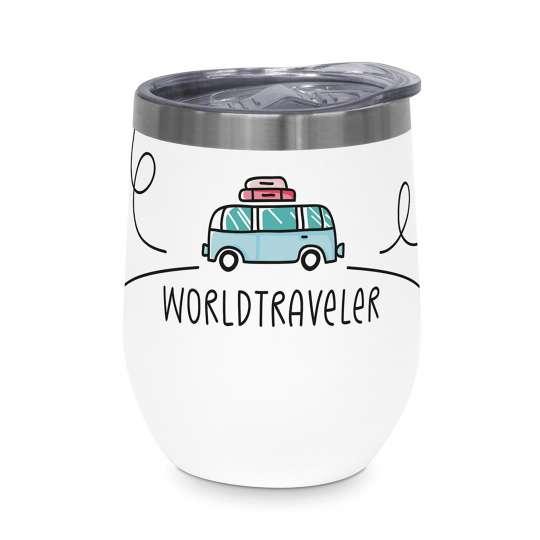 Design-at-home - Thermo-Mug 350 ml - Worldtraveler