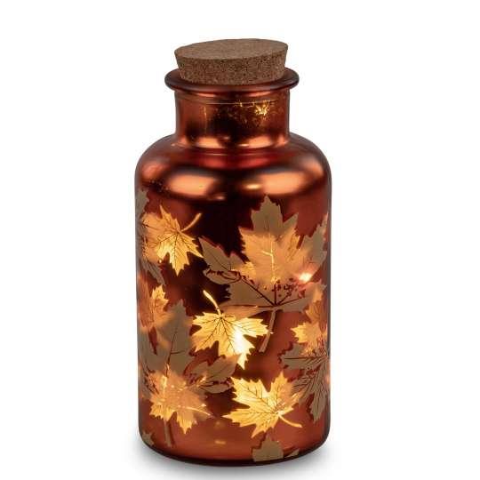 formano - Deko-Flasche - Blattdekor