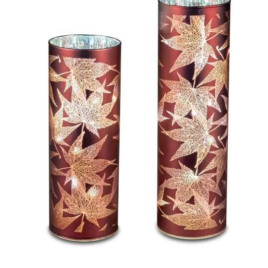 formano - LED-Lichter mit Blattdekor - zwei Größen