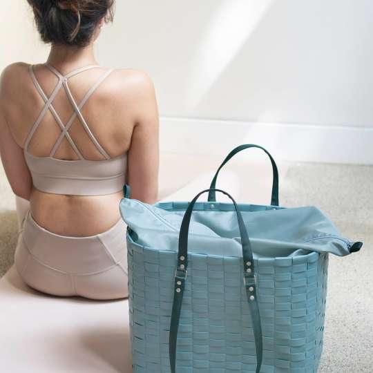 Handed By - GO! - Shopper teal blue - Fitnessbag