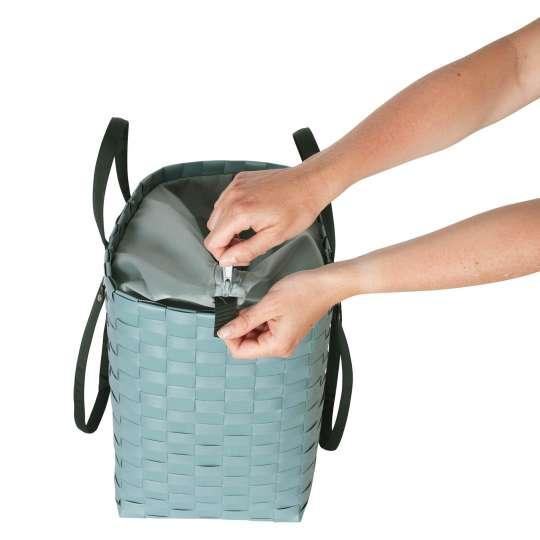 Handed By - GO! - Shopper teal blue - Reißverschluss