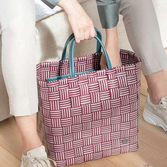 Handed By - Handbag JOY burgundy - griffbereit