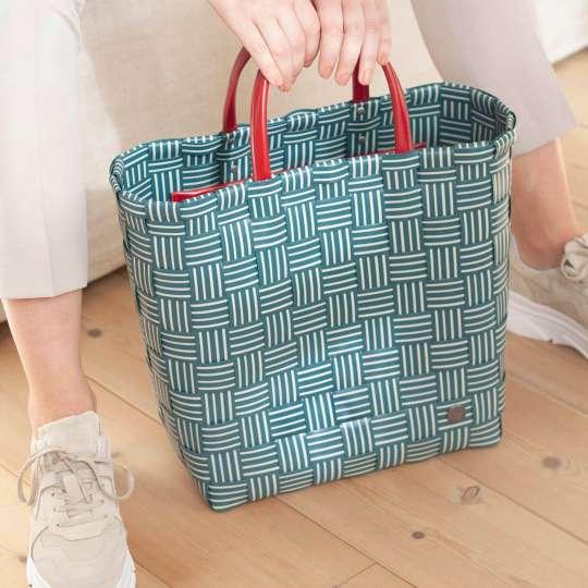 Handed By - Handbag JOY blue green - Handgriff