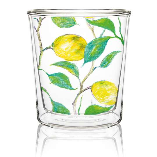 Paperproducts Design Doublewall Trend Glass Beautiful Lemons – 603902