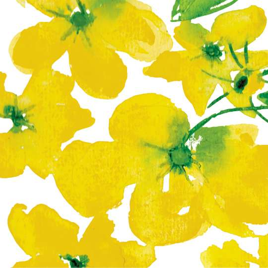 Paperproducts Design Lunchserviette Flowers Yellow – 1333160
