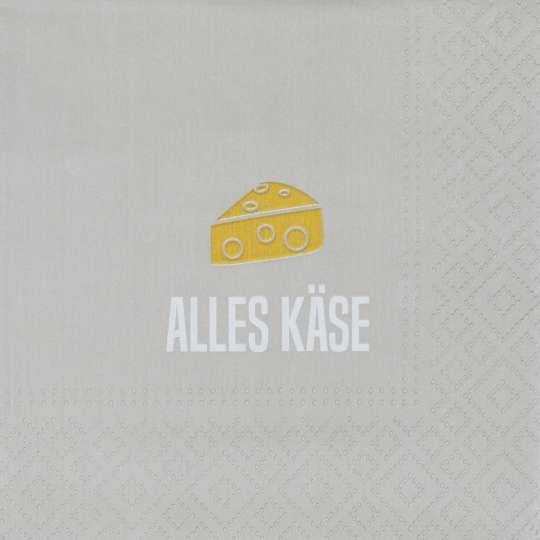 räder - Cocktailserviette Alles Käse, 25 x 25 cm